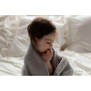 Memi cookie bambusz-pamut kötött takaró - Hamuszürke
