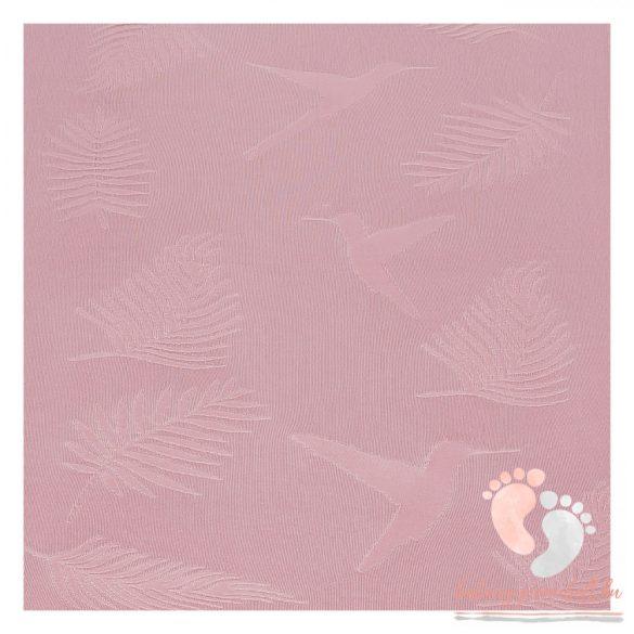 Royal kolibri bambusz kötött takaró - Rózsaszín