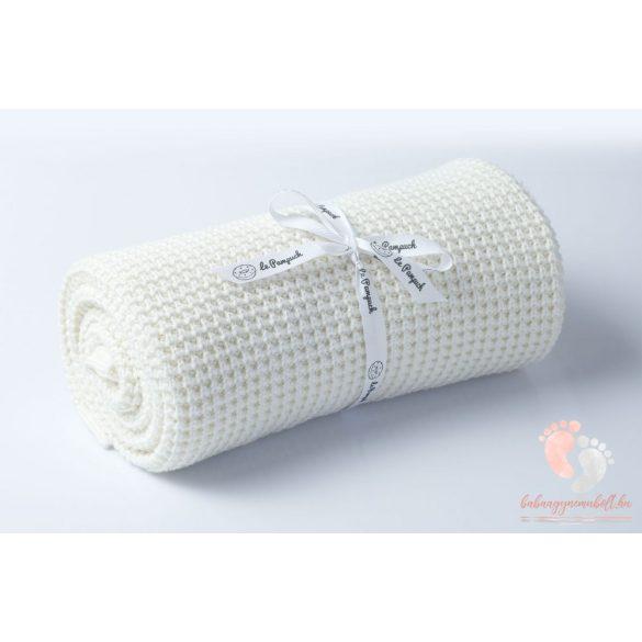 Happy pamut kötött takaró - Ekrü