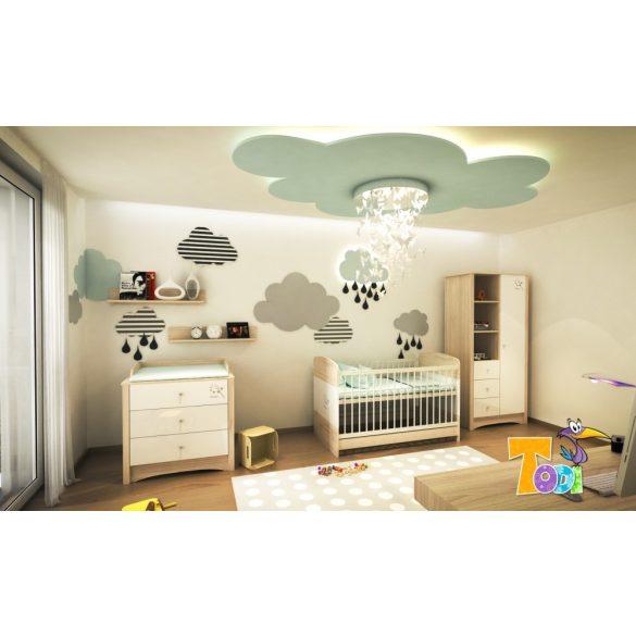 Todi Magic gurulós ágyneműtartó babaágyhoz