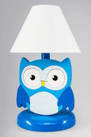 Bagoly kék éjjeli lámpa