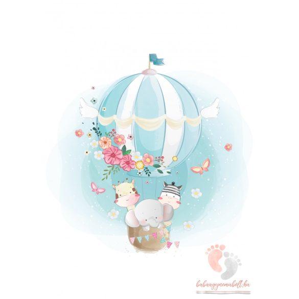 A4-es poszter - Légballon állatokkal