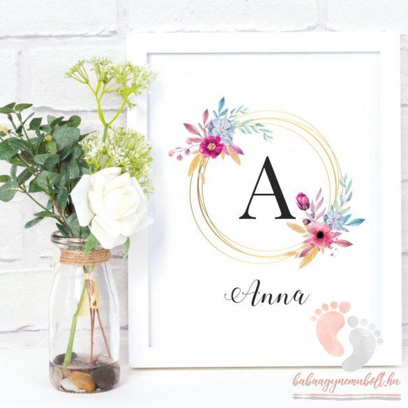 Lányos monogram poszter