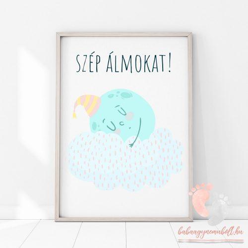 A4-es poszter - Hold felhővel