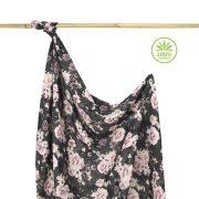 Könnyű álom bambusz takaró 100x120 cm - Midnight roses