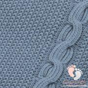 Color polár-pamut kötött takaró - Óceán kék