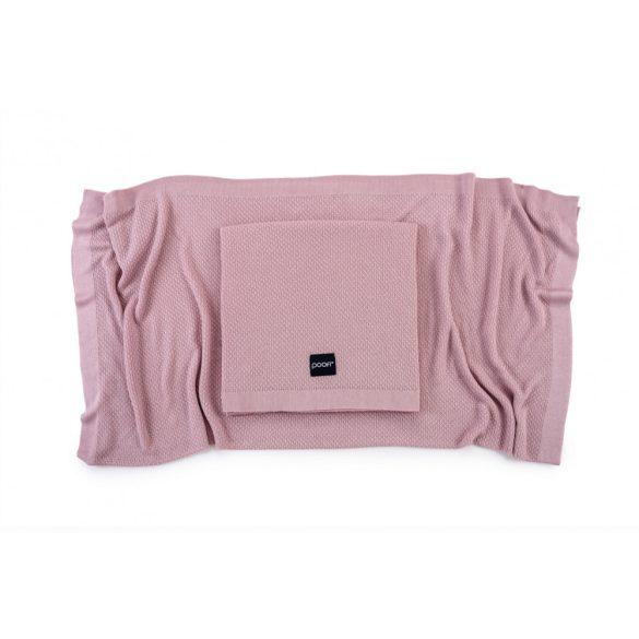 Deluxe kötött bambusz takaró - Rose