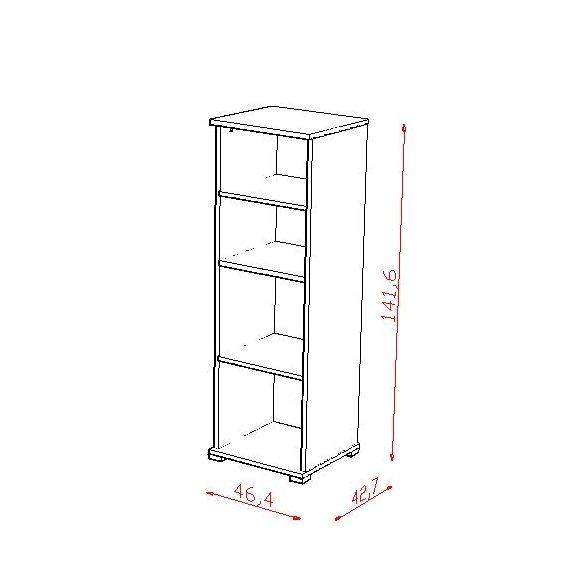 TODI ZOO - keskeny nyitott polcos szekrény