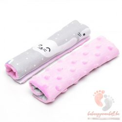 Pihe-puha biztonsági öv védő - Funny Bunny rózsaszínnel