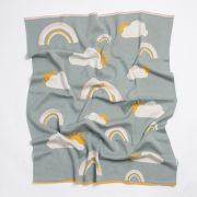 Nature pamut kötött takaró - Sárga