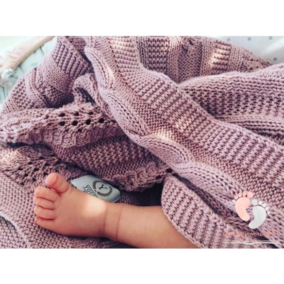 Royal pamut kötött takaró - Mályva