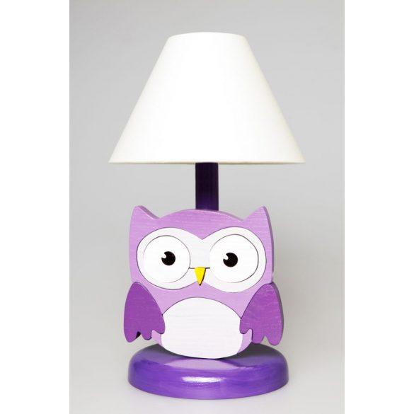 Bagoly lila éjjeli lámpa