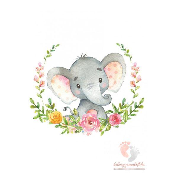 A4-es poszter - Elefánt virágokkal