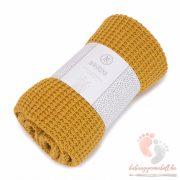 Könnyű álom bambusz-pamut takaró - Mustard
