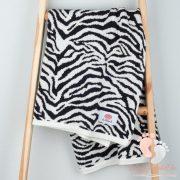 Happy pamut kötött takaró - Zebra