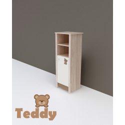 TODI Teddy - keskeny nyitott polcos + 1 ajtós szekrény