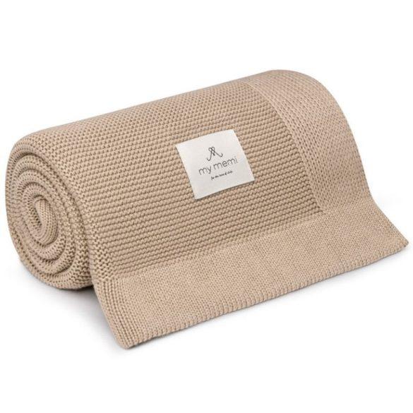 Memi bambusz-pamut kötött takaró - Homok
