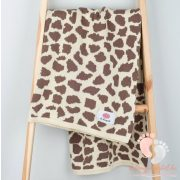 Happy pamut kötött takaró - Zsiráf