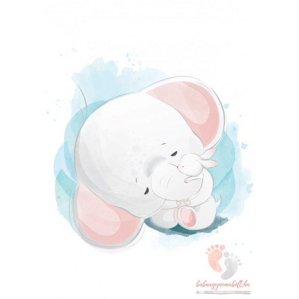 A4-es poszter - Elefánt nyuszival