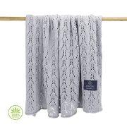 Könnyű álom bambusz-pamut kötött takaró - Hamuszürke