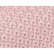Memi cookie bambusz-pamut kötött takaró - Púder rózsaszín