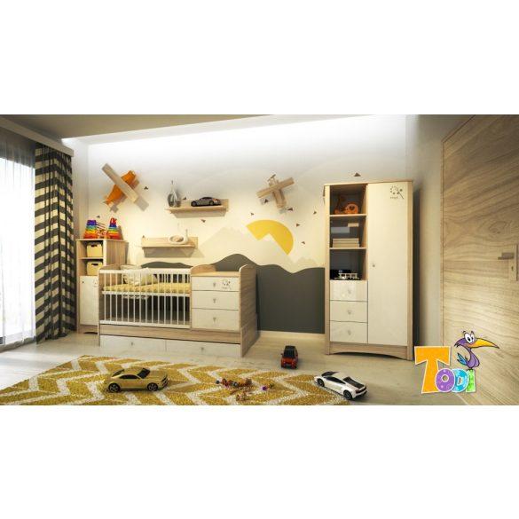Todi Magic - keskeny nyitott polcos + 1 ajtós szekrény