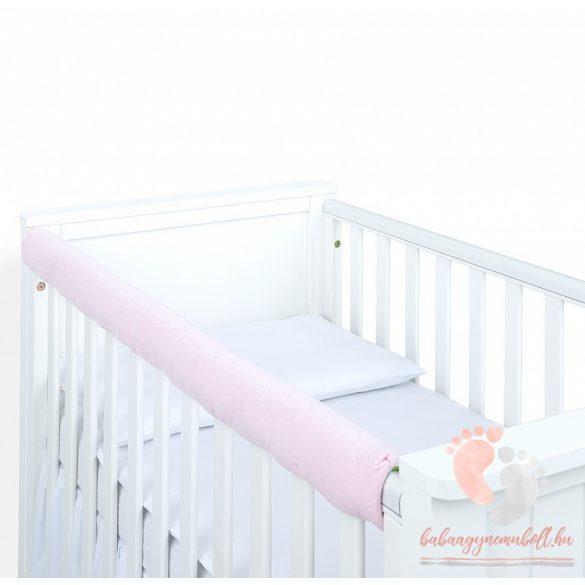 Prémium fog- és rágásvédő kiságyra - Púder rózsaszín