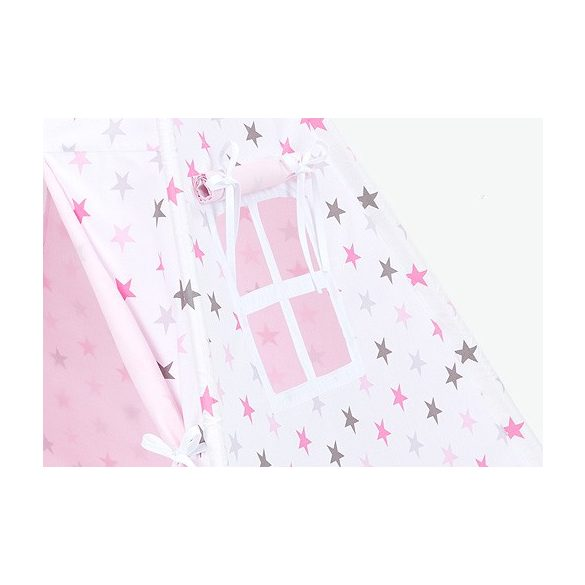 Prémium indián sátor - Rózsaszín szürke csillagos