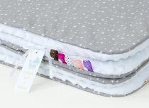 minky takaró - szürke apró csillagos fehérrel