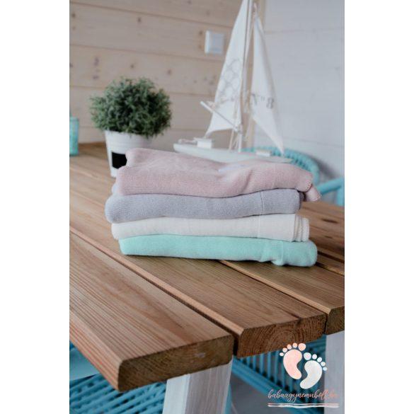 Royal bambusz kötött takaró - Pasztell menta