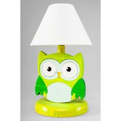 Bagoly zöld éjjeli lámpa