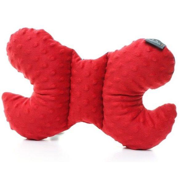 Pihe-puha pillangó párna Tengerész csillagos piros