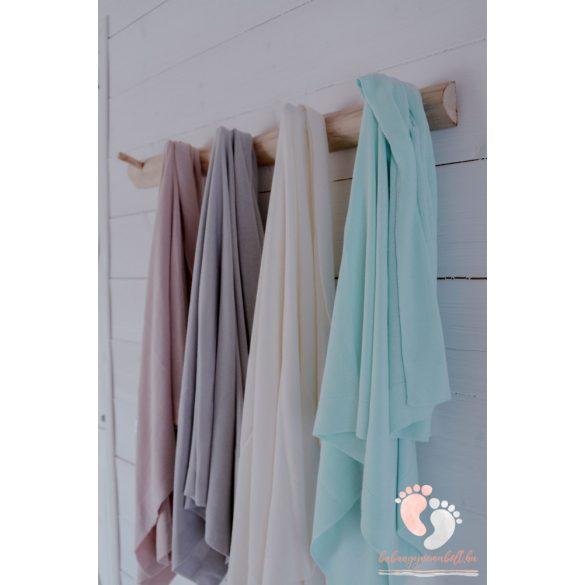 Royal bambusz kötött takaró - Pasztell rózsaszín