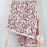Happy pamut kötött takaró - Párduc