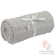 Happy sunny bambusz-pamut kötött takaró - Szürke