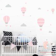 Falmatrica - Rózsaszín léggömbök szürke felhőkkel