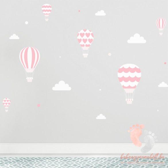Falmatrica - Rózsaszín léggömbök fehér felhőkkel