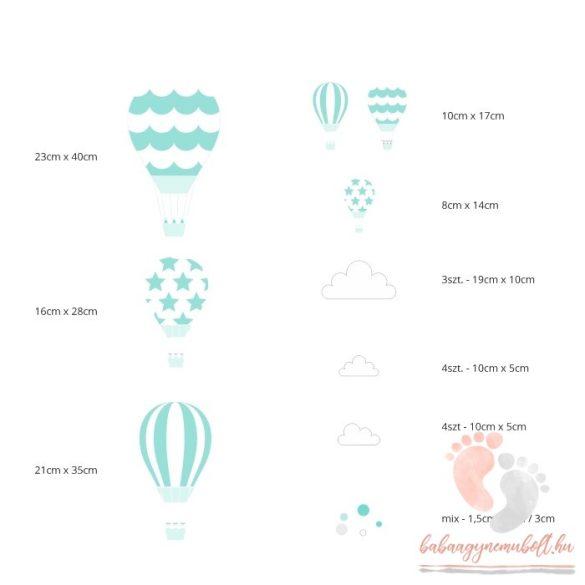 Falmatrica - Menta léggömbök fehér felhőkkel