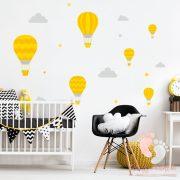 Falmatrica - Sárga léggömbök szürke felhőkkel