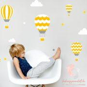 Falmatrica - Sárga léggömbök fehér felhőkkel
