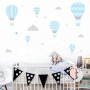 Falmatrica - Kék léggömbök szürke felhőkkel
