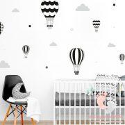 Falmatrica - Fekete léggömbök szürke felhőkkel