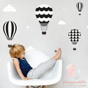 Falmatrica - Fekete léggömbök fehér felhőkkel