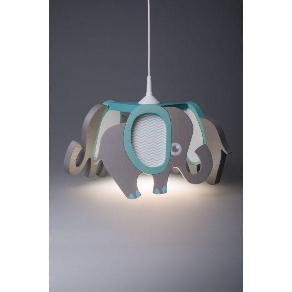 Elefánt türkiz csillár