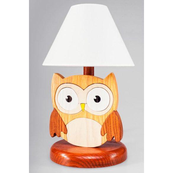 Bagoly barna éjjeli lámpa