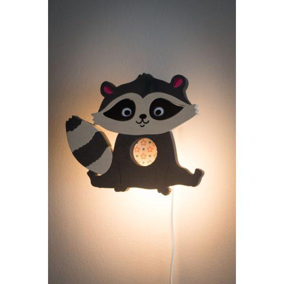 Mosómedve szürke fali lámpa