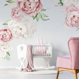 Virágos falmatricák