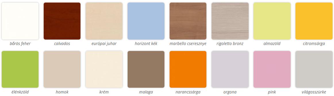 Todi választható színek