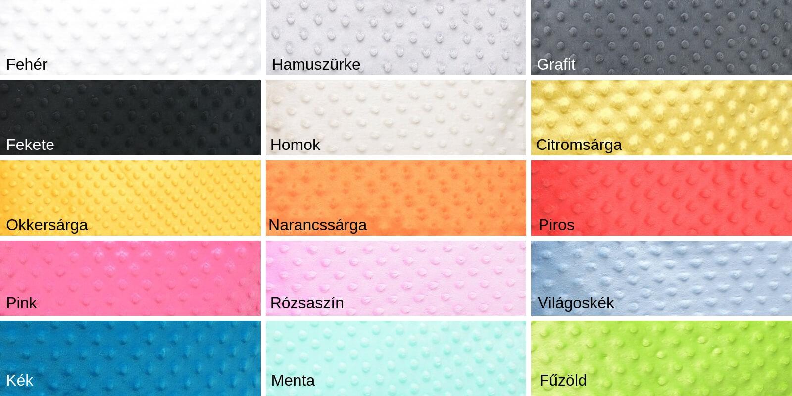 Minky színek
