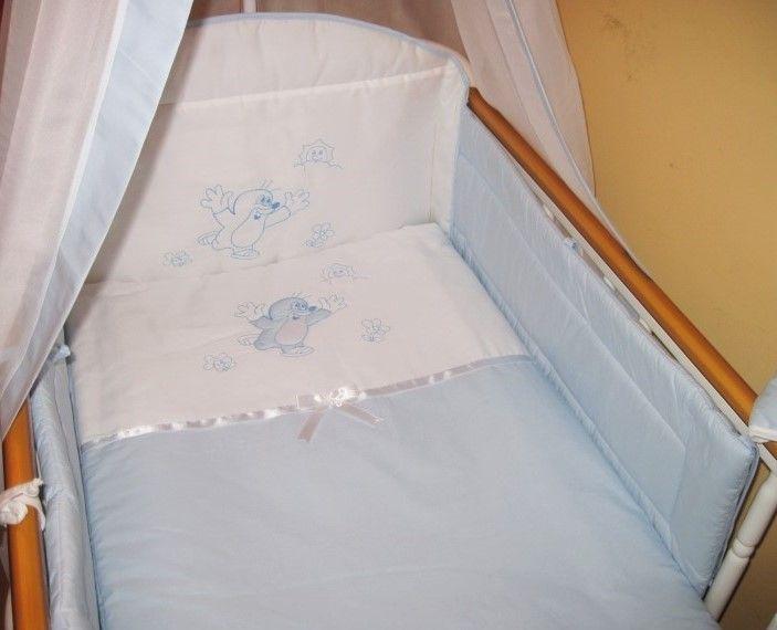 Babaágynemű garnitúra 4 részes - Vakond Hímzés - Kék
